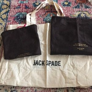 2 kate spade dust cover bags 1 jack spade tote